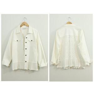 Simply Noelle Cotton White Lace Peplum Jacket